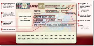 Data of Russian Visa