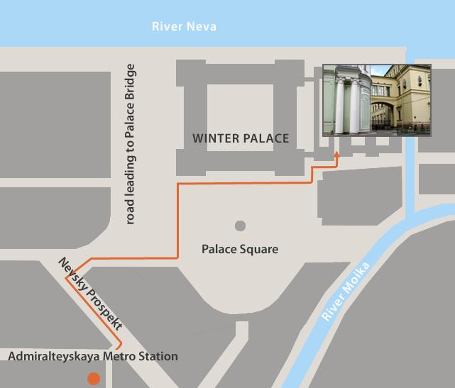 Kleine Hermitage Besucher Eingang mit Online-Eintrag 1
