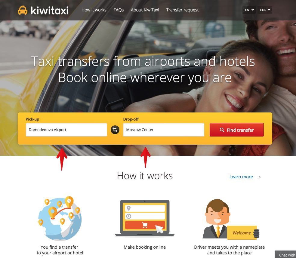 Book taxi in advance in the international airports of Moscow - Kiwitaxi 1
