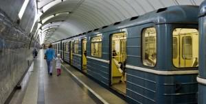Wagon métro à Moscou