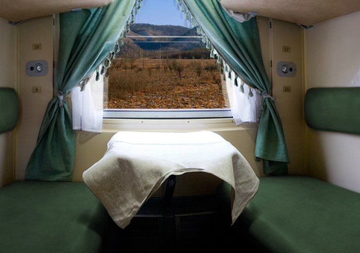 Second class compartment - Rossiya train