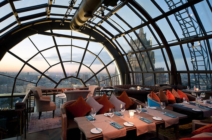 White Rabbit restaurant in Moscow