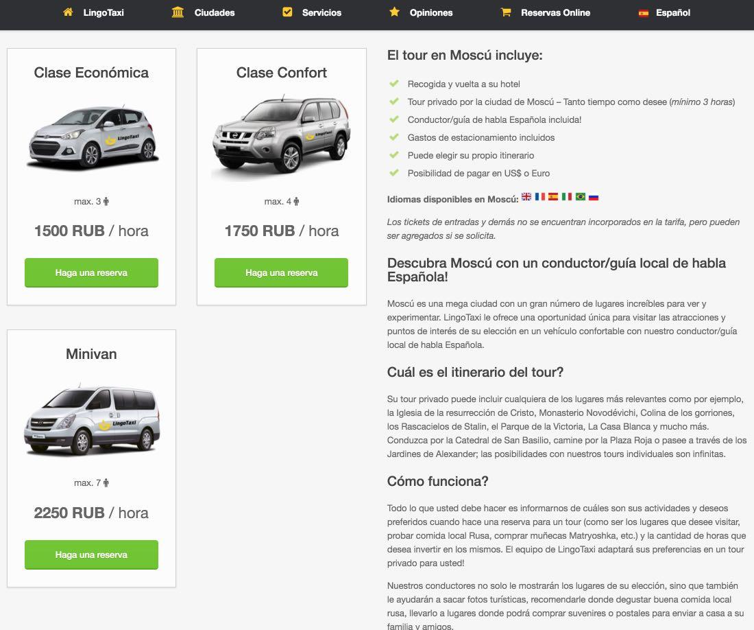 Escursioni Taxi a Mosca