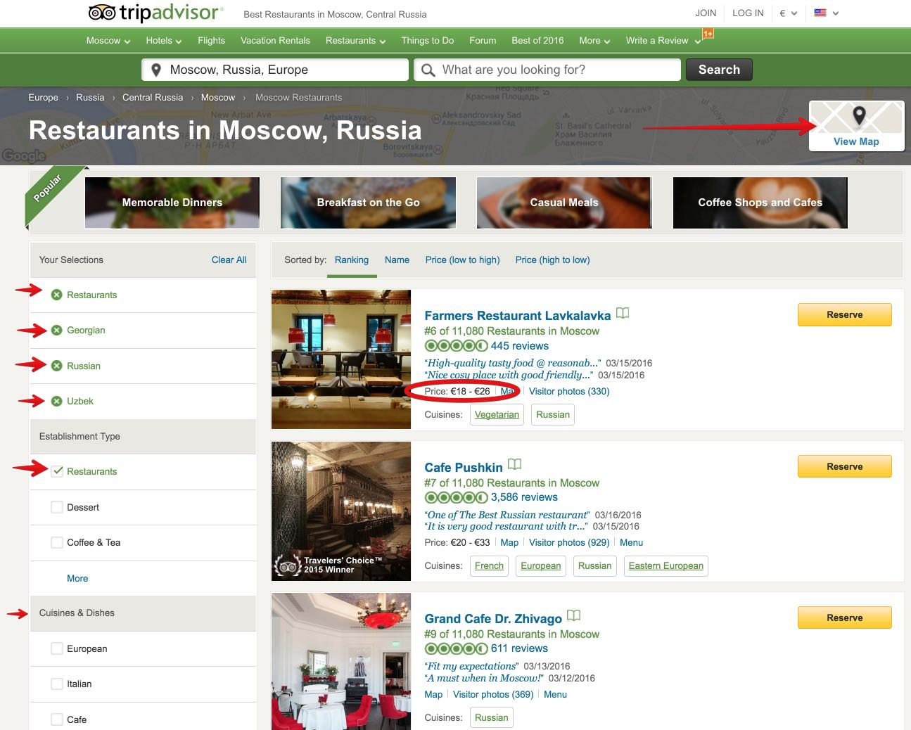 Where to eat in Moscow: from Teremok to Café Pushkin