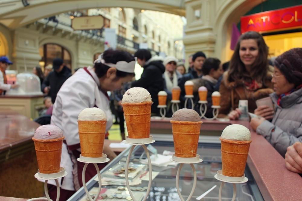 GUM - Probieren Sie typische russische Eiscremes
