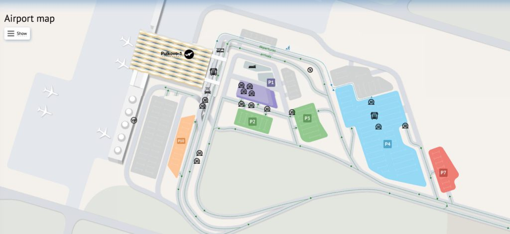 Pulkovo airport map