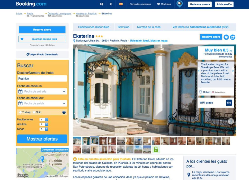 Hotel Ekaterina Pushkin - Booking platform