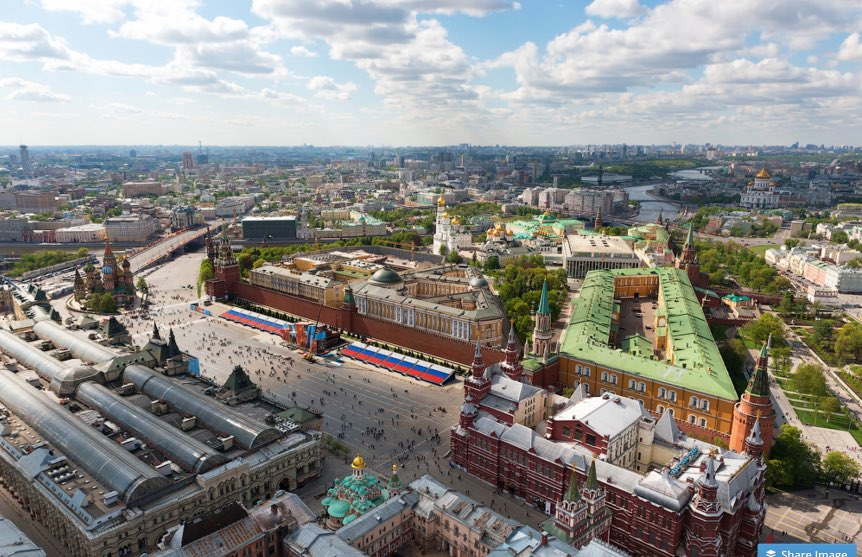 Red Square of Moscow - aerial view