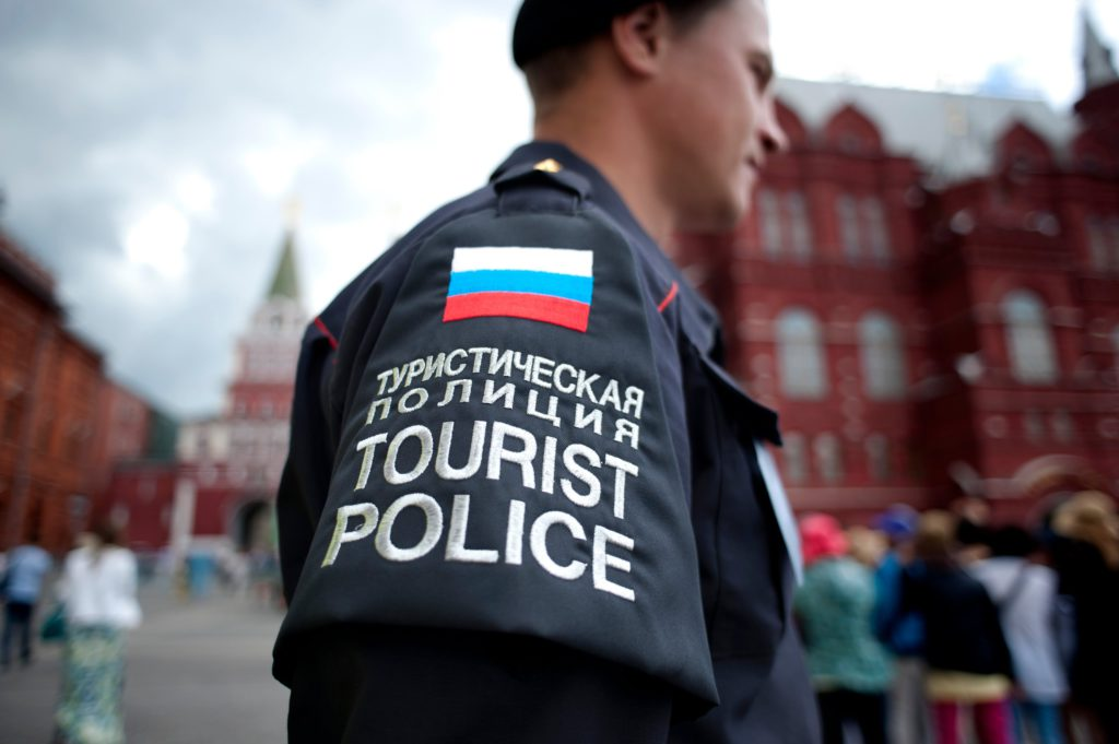 Touristenpolizei in Moskau