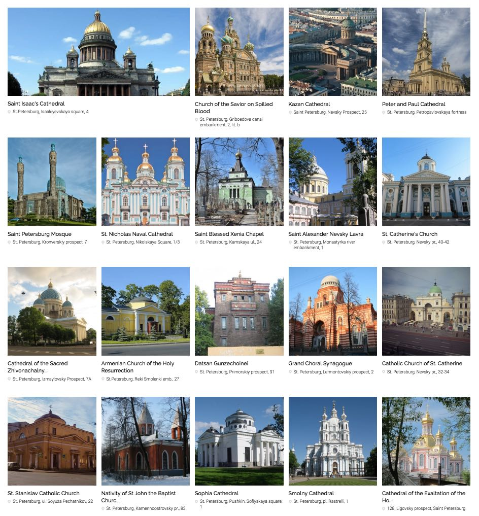 Churches and cathedrals in St. Petersburg