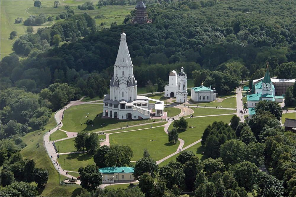 kolomenskoye - aerial view