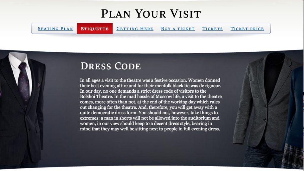 Norme di abbigliamento per assistere a una rappresentazione balleto opera