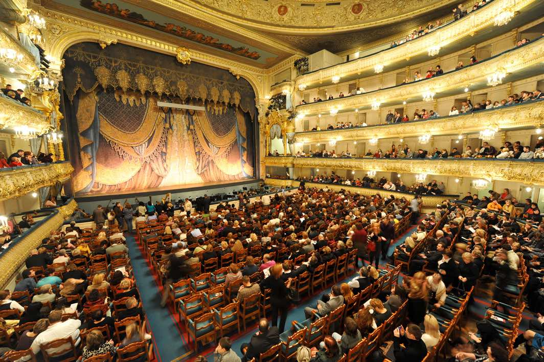 Mariinsky Theater interior St. Petersburg - Arriving on a cruise