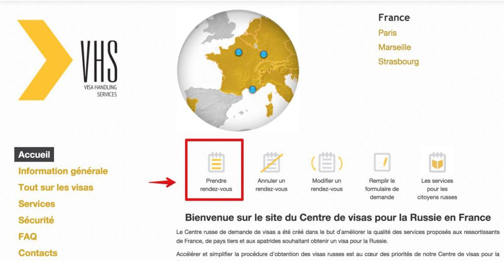 Russian visa Center in France