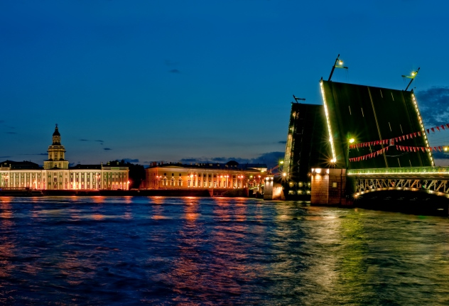 percorso crociera notturna ponti di San Pietroburgo 2