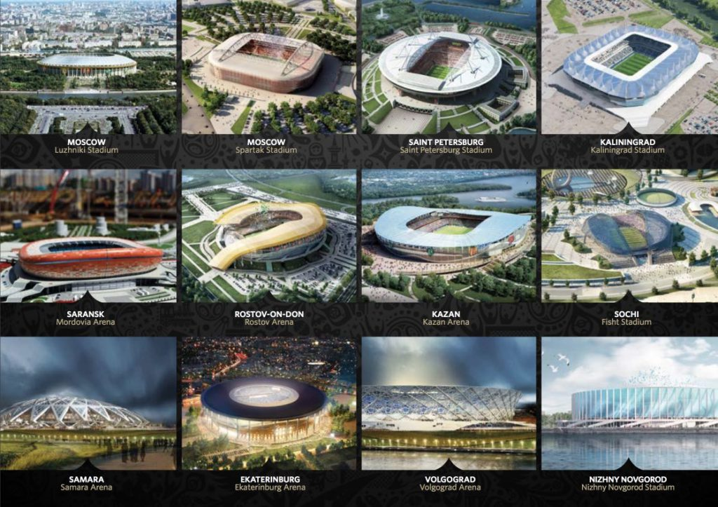 Stadiums of the World Cup of Russia 2018