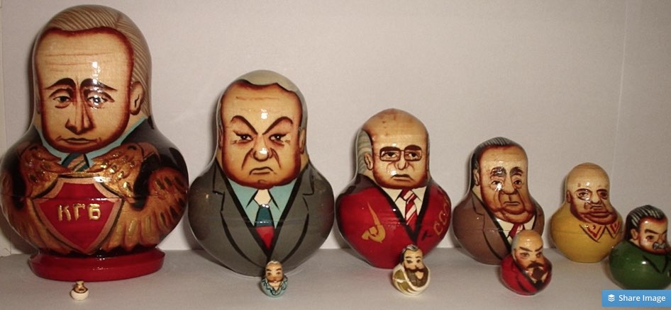 Russian politicians - matryoshkas