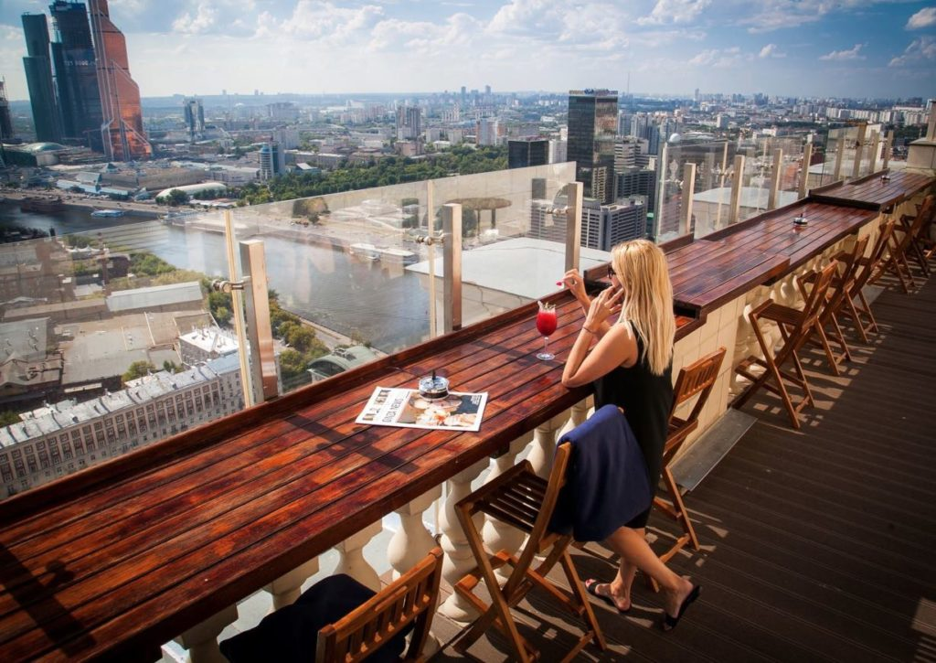 Observation platform Hotel Ukraine Moscow - Views