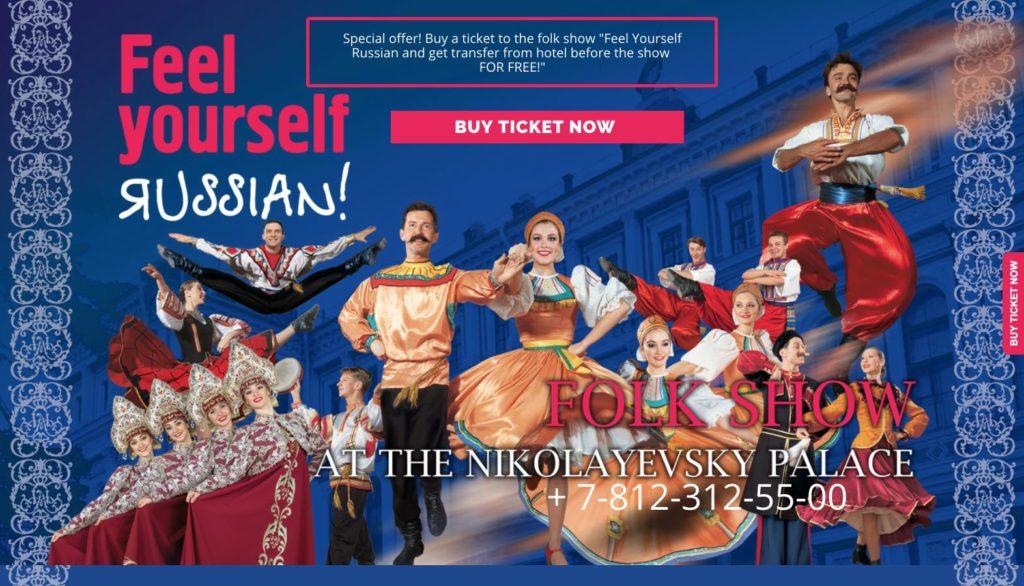 Feel yourself Russian Folk Show San Pietroburgo