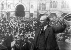 Lenin durante la rivoluzione russa