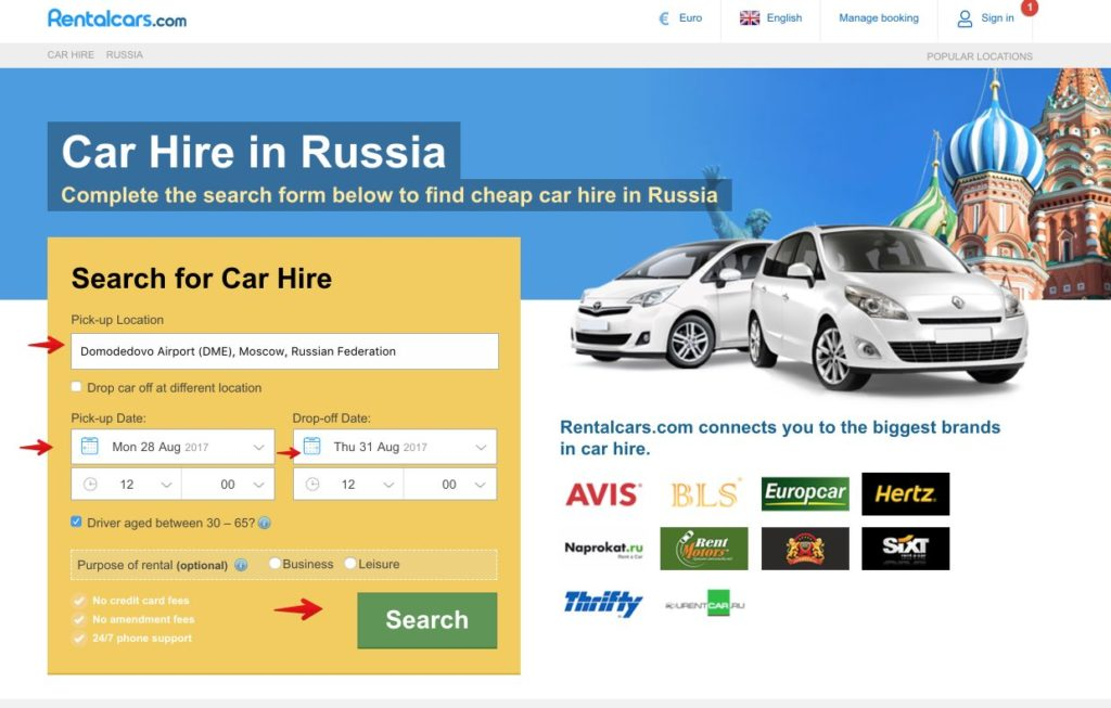 Rent car in Russia 1
