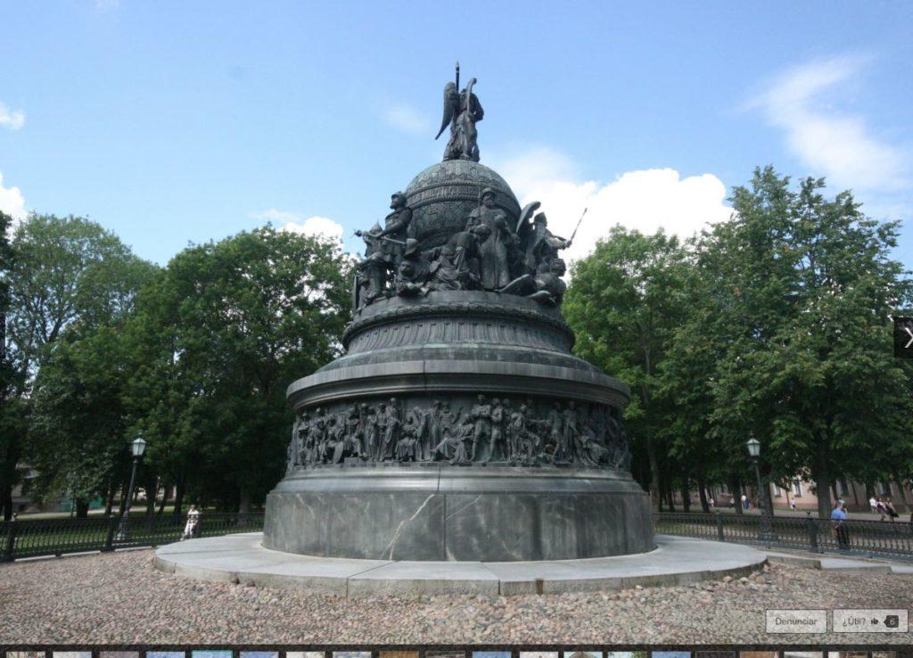Russian Millennium Monument in Velikiy Novgorod