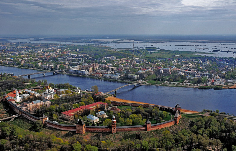Veliky Novgorod city general viewd
