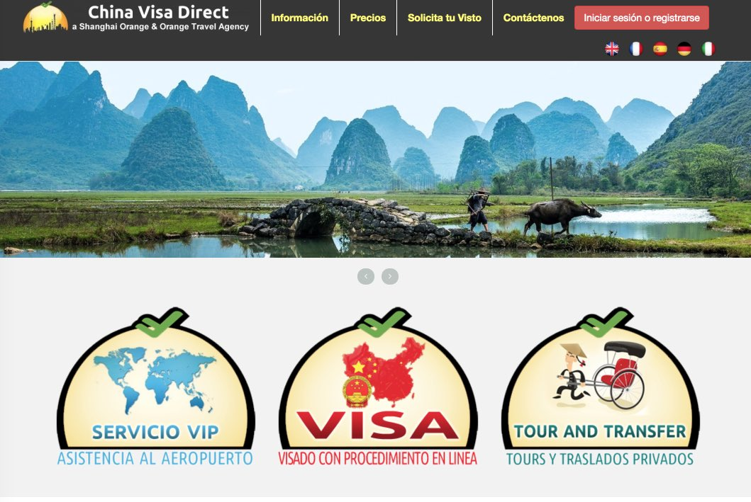China Visa Direct website - Visto collettivo in Cina