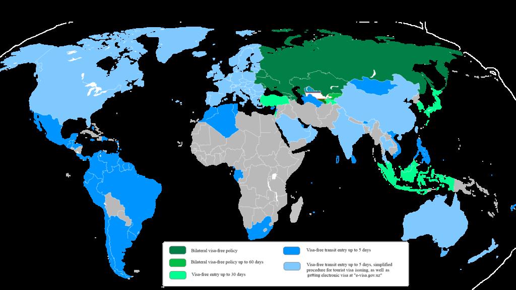 Visa-Politik in Usbekistan