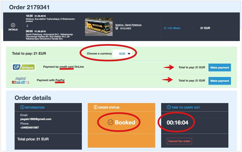 Acheter des billets de bus en Russie 4