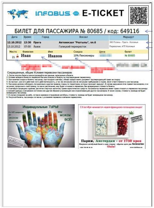 Infobus ticket - Travel Russia by bus