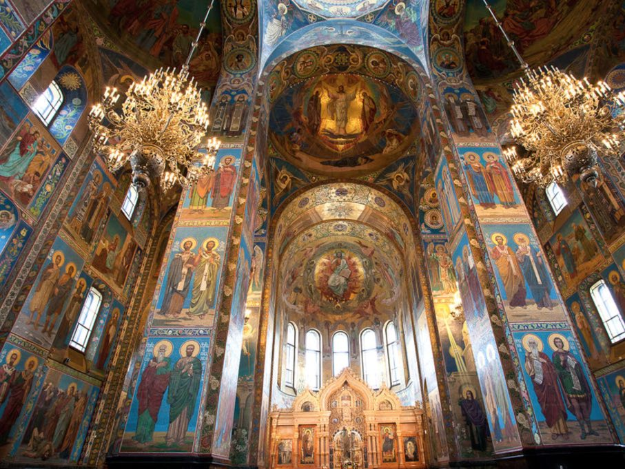 The Church of the Savior on Spilled Blood - Mosaics in the interior
