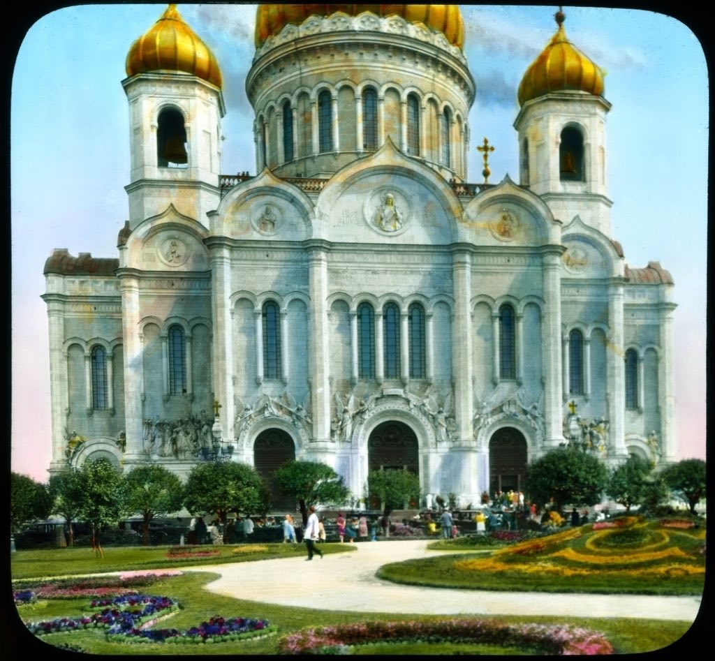 The Cathedral of Christ the Savior of Moscow in 1931