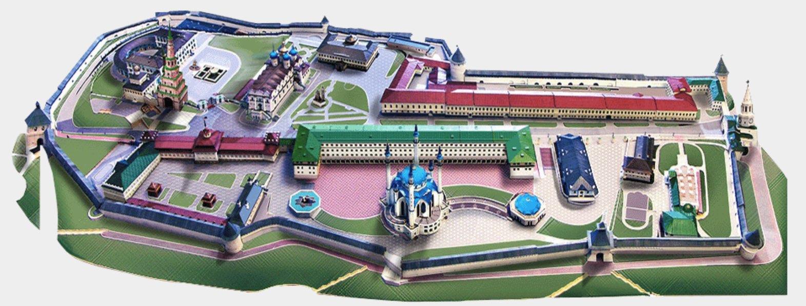 Kremlin Kazan Map