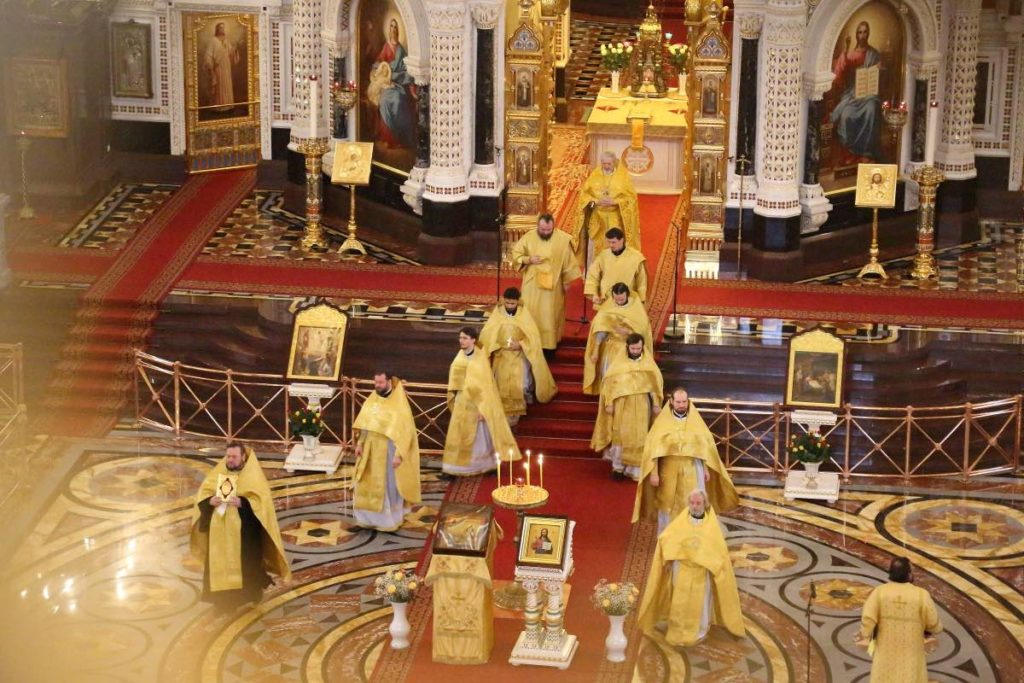 Orthodox Mass in the Cathedral of Christ the Savior