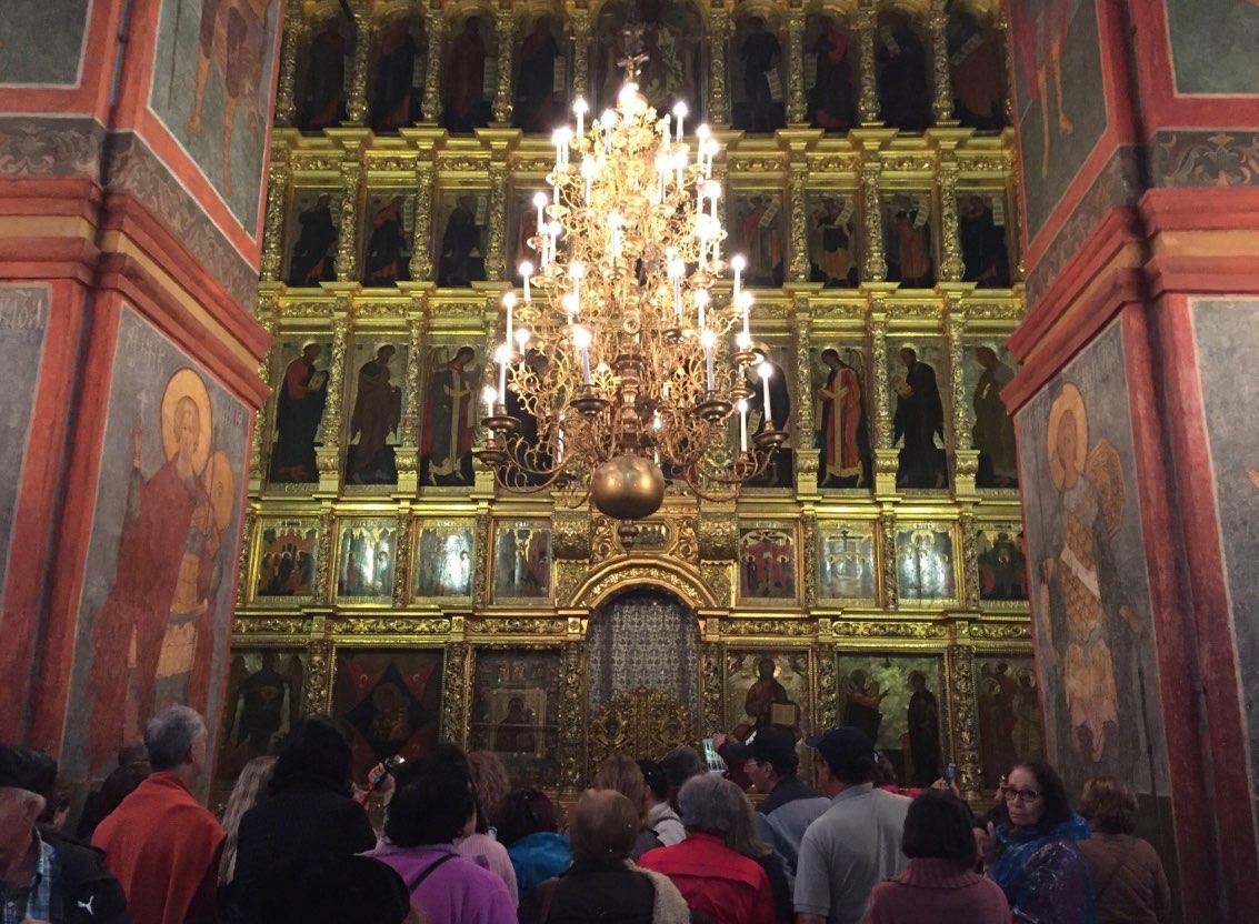 Cathédrale de Smolensk à Moscou - intérieur - Couvent de Novodievitchi