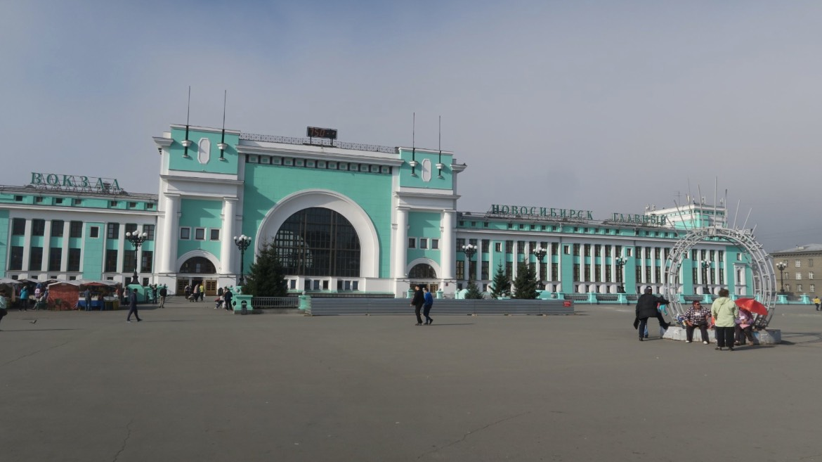 Novosibirsk main train station - Exterior