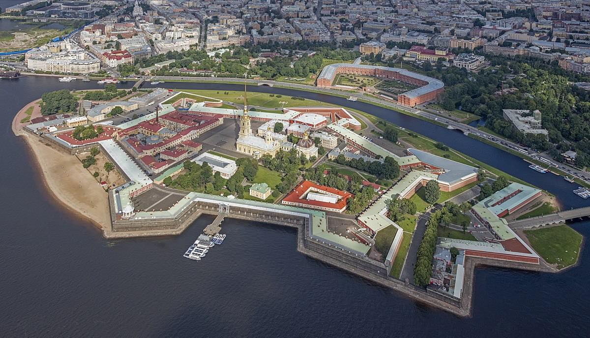 Fortress of Peter and Paul in St. Petersburg - Aerial View
