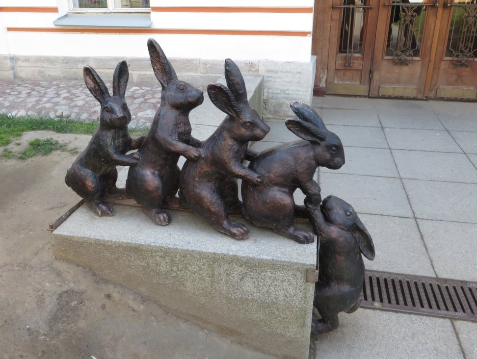 Hares in the Fortress of SS Peter and Paul