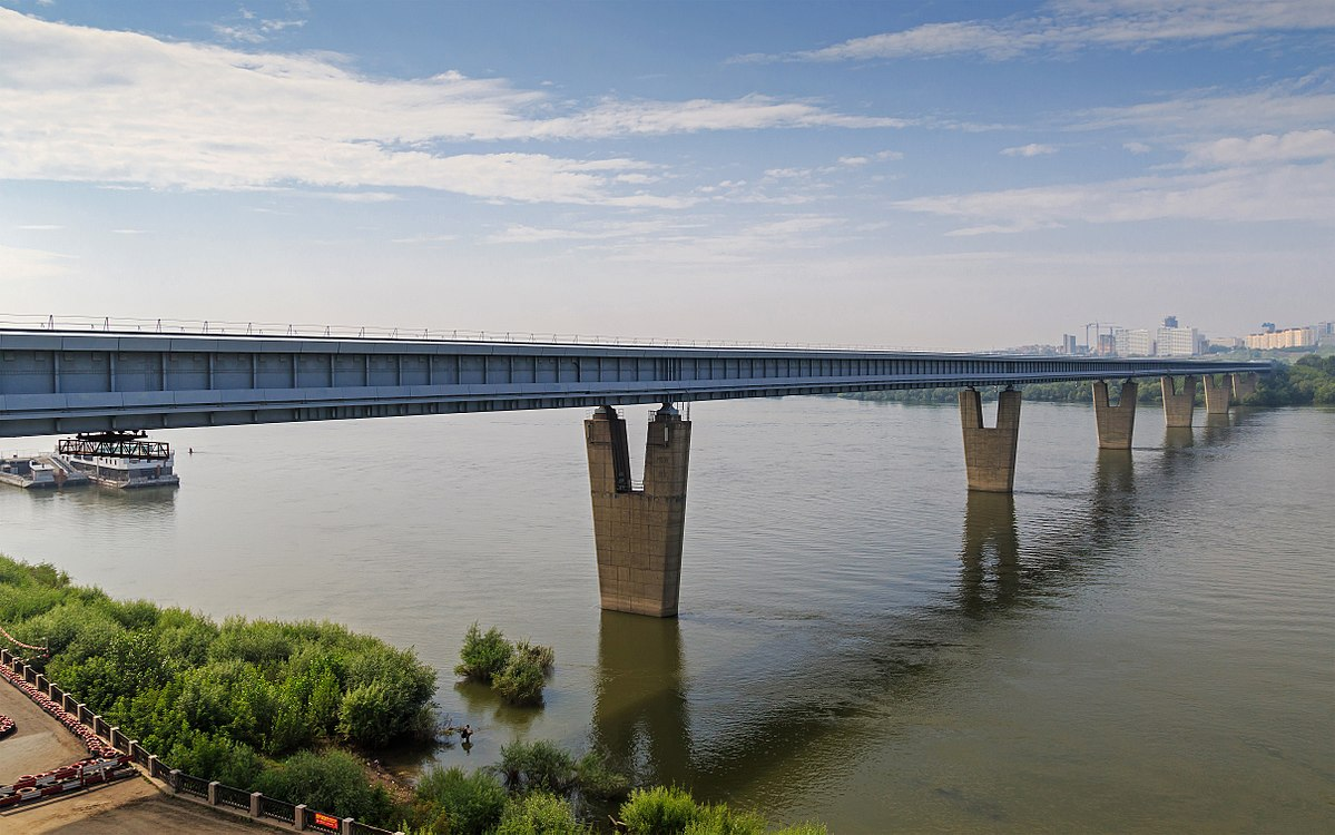 Metro Bridge in Novosibirsk