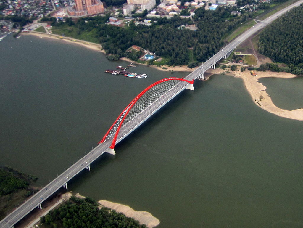 Bugrinsky bridge in Novosibirsk