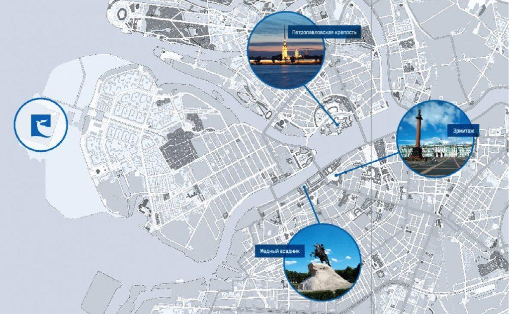 Plan Saint-Pétersbourg et port