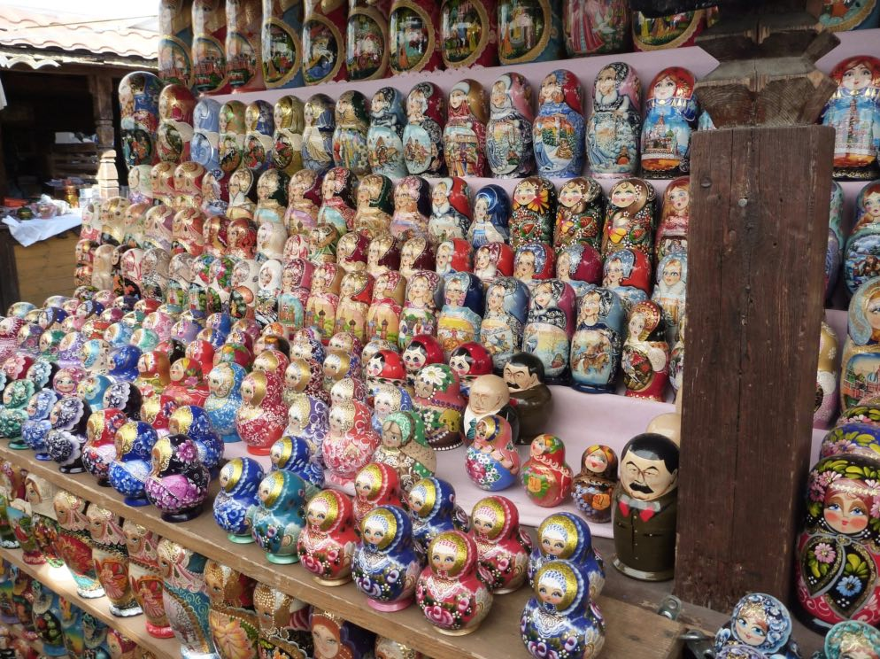 Matryoshkas - Izmaylovo Market in Moscow