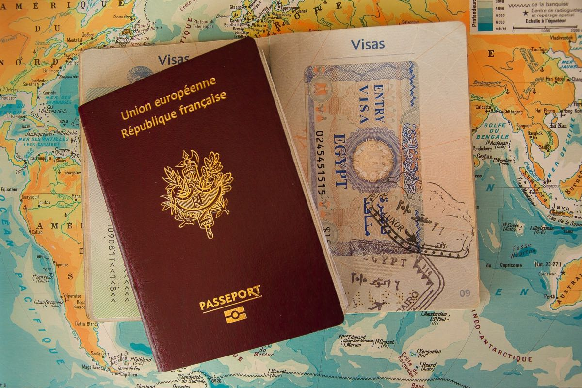 Passport for Russian visa