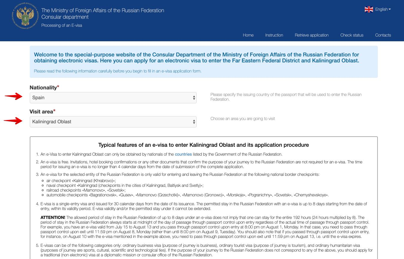 Application for e-visa to travel to Russia - Consular Department of the Ministry of Foreign Affairs of the Russian Federation 1
