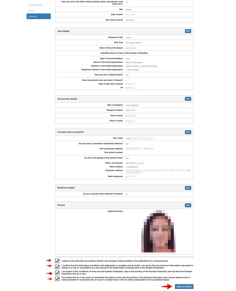 Application for e-visa to travel to Russia - Consular Department of the Ministry of Foreign Affairs of the Russian Federation 13