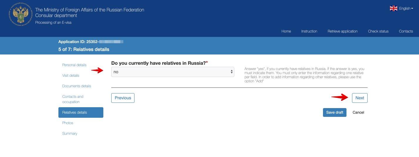 Søknad om e-visum for å reise til Russland - Konsulær avdeling for utenriksdepartementet i Den Russiske Føderasjon 10