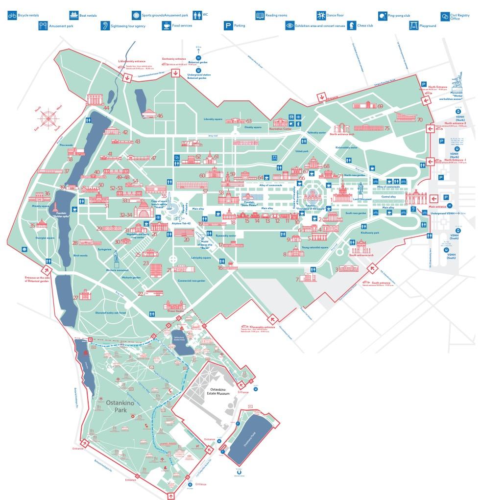 DNKh - VDNH - map