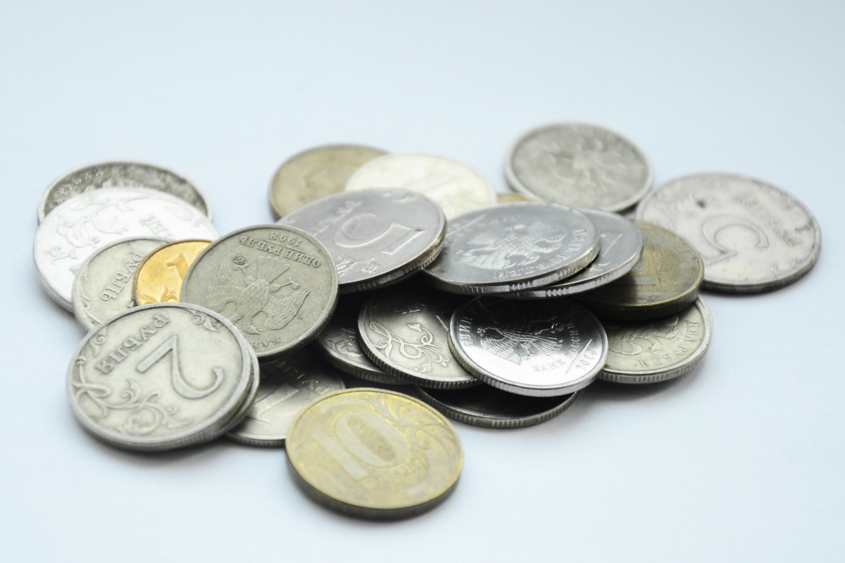Rubles in coins