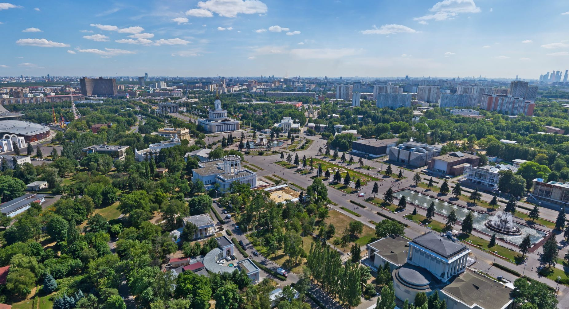 Aerial view VDNKh - VDNH - Featured image